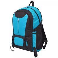vidaXL Sac à dos de randonnée 40 L Noir et bleu