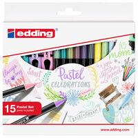 edding Ensemble de feutres pastels 15 pcs
