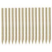 vidaXL Poteau de clôture pointu 15 pcs Pin imprégné 4 x 170 cm