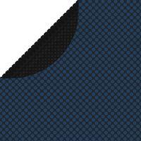 vidaXL Film solaire de piscine flottant PE 527 cm Noir et bleu
