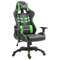 vidaXL Chaise de jeu Vert Similicuir