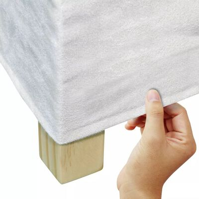 vidaXL Chaises de salle à manger 2 pcs Blanc crème Tissu