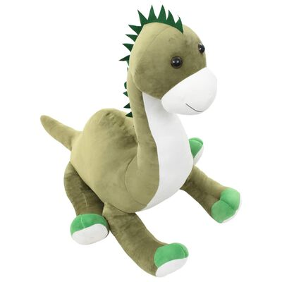 vidaXL dinosaure brontosaure en peluche Vert