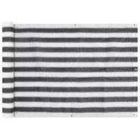 vidaXL Écran de balcon en PEHD 75 x 600 cm Anthracite et blanc