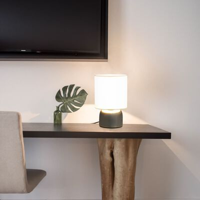 vidaXL Lampes de table 2 pcs Bouton tactile Blanc E14
