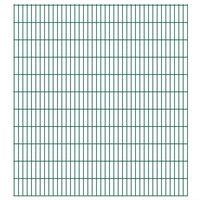 vidaXL Panneaux de clôture de jardin 2D 2,008x2,23 m 44 m total Vert