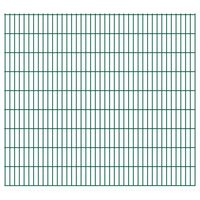 vidaXL Panneaux de clôture de jardin 2D 2,008x1,83 m 32 m total Vert