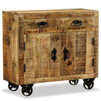 vidaXL Buffet avec 2 tiroirs et 1 armoire Bois de manguier brut