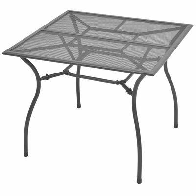vidaXL Table de jardin 90x90x72 cm Acier Treillis