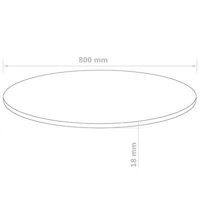 vidaXL Dessus de table Rond MDF 800 x 18 mm