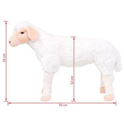 vidaXL Jouet en peluche Mouton Blanc XXL