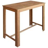 vidaXL Table de bar Bois d'acacia massif 120 x 60 x 105 cm