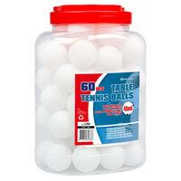 Get & Go Balles de ping-pong 60 pcs ABS Blanc