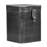 LABEL51 Boîte de rangement 15x16x19 cm L Noir antique