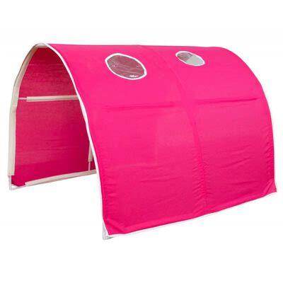 Tunnel pour lit enfant superposé tente accessoires rouge 90x70x100cm