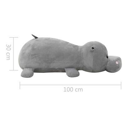 vidaXL hippopotame en peluche Gris