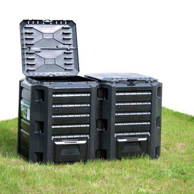 vidaXL Composteur de jardin Noir 380 L