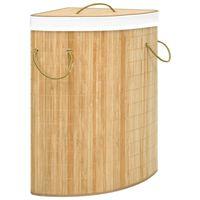 vidaXL Panier à linge d'angle Bambou 60 L