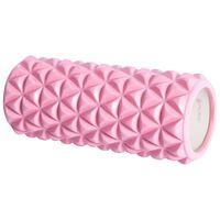 Pure2Improve Rouleau de yoga 33x14 cm Rose et blanc