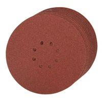 10 disques abrasifs perforés 8 trous autoagrippants d. 225 mm grain 60