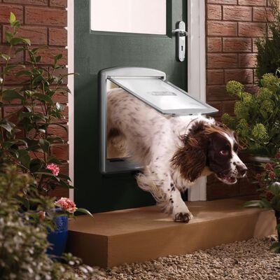 PetSafe Porte à 2 voies pour chiens 777 Large 35,6 x 30,5 cm Argenté