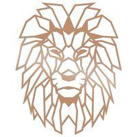 Homemania Décoration murale Lion 40x50 cm Acier Cuivre