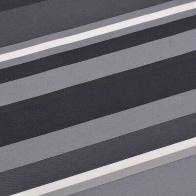 vidaXL Paravent de balcon Tissu Oxford 75 x 400 cm Bande Gris