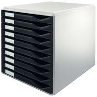 Leitz Classeur à formulaires 10 tiroirs Noir