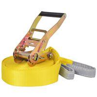vidaXL Corde lâche pour slackline 15 m x 50 mm 150 kg Jaune