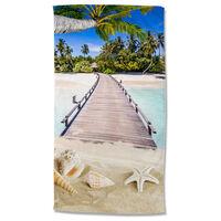 Good Morning Serviette de plage MOANA 100x180 cm Multicolore