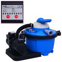 vidaXL Pompe de filtration à sable avec minuterie 450 W 25 L