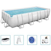 Bestway Ensemble de piscine rectangulaire Power Steel 549x274x122 cm