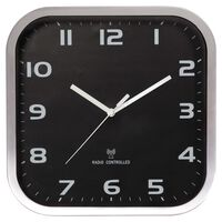 Perel Horloge murale 27x27 cm Noir et gris