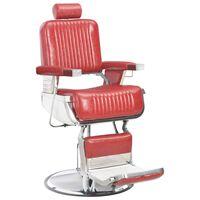vidaXL Chaise de barbier Rouge 68x69x116 cm Similicuir
