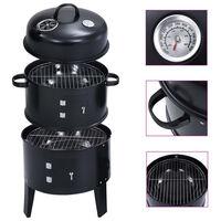 vidaXL Gril barbecue au charbon 3 en 1 40x80 cm